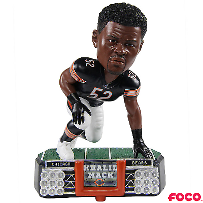 Khalil Mack Player Bobble Head Chicago Bears NFL Officially Licensed