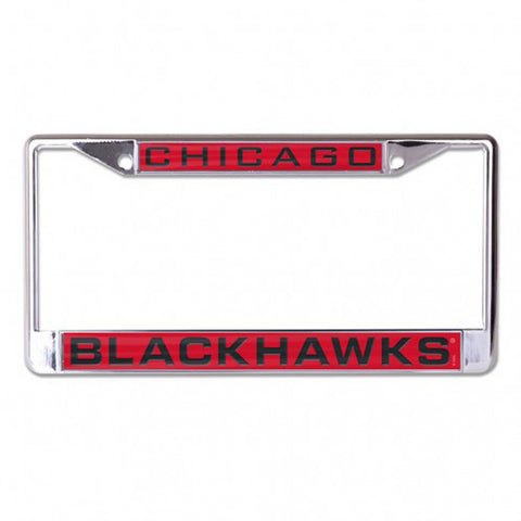 Chicago Blackhawks Inlaid Laser Metal License Plate Frame NHL Official