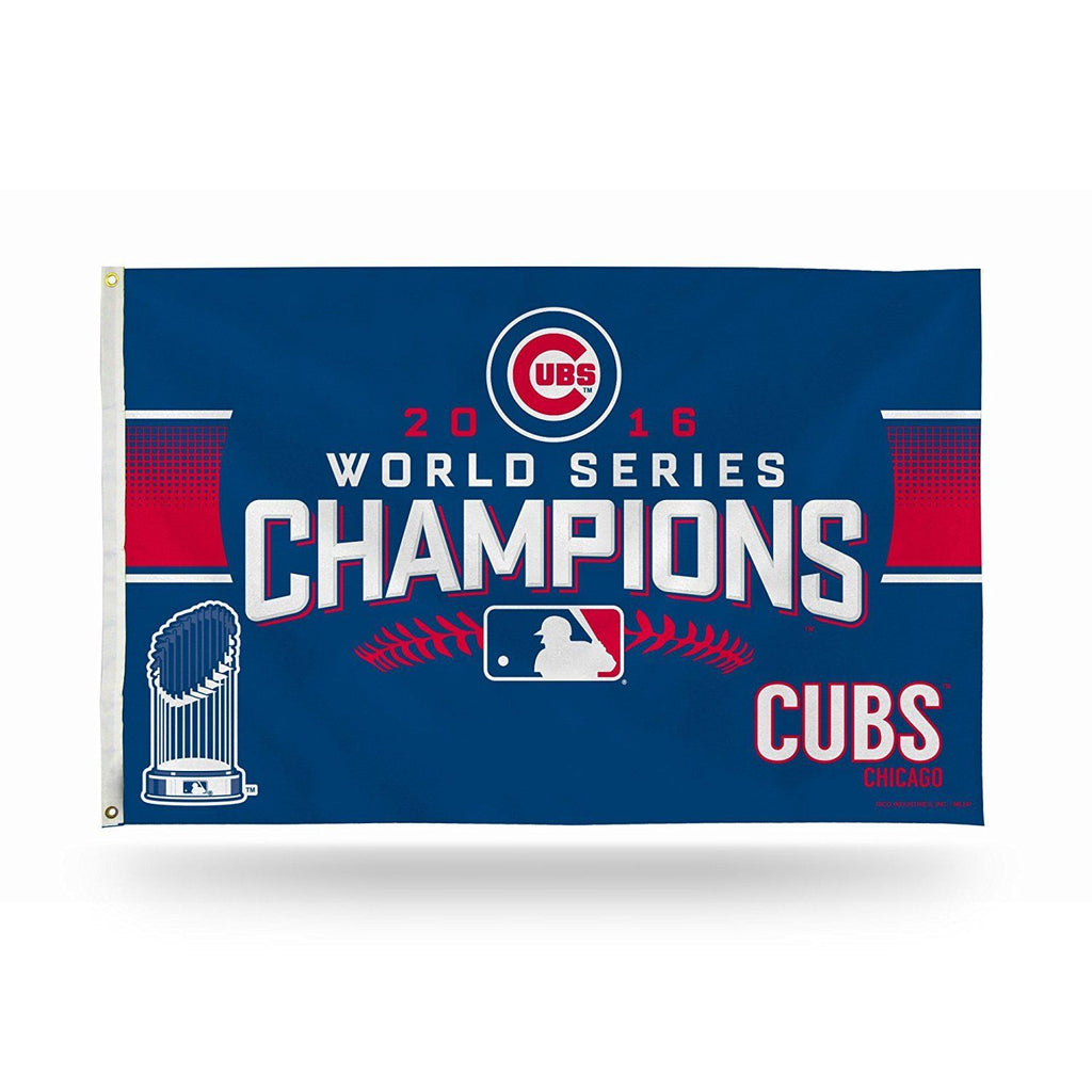 Chicago Cubs World Series Champs Banner Flag 3'x5'