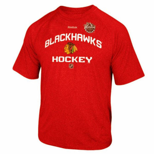 Youth Chicago Blackhawks 2015 Winter Classic PlayDry T-Shirt NHL Reebok Official