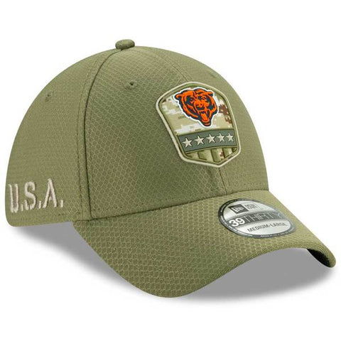 Chicago Bears New Era 39THIRTY 2019 Salute to Service FlexFit Hat