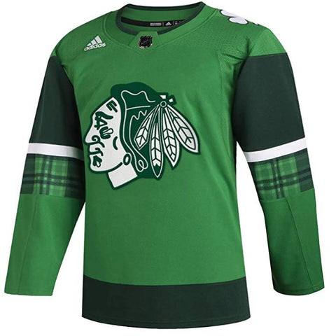 Chicago Blackhawks NHL Adidas Authentic St. Patricks Day Jersey - Green