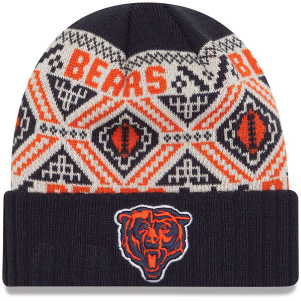 Chicago Bears Adult New Era Navy Cozy Cuffed Knit Winter Hat