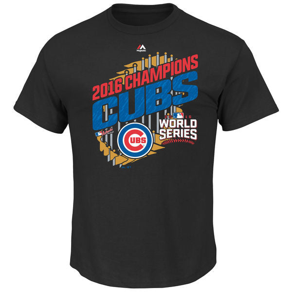Chicago Cubs Adult Majestic 2016 World Series Champions Parade T-Shirt - Black