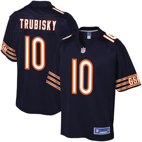 Chicago Bears Navy Mitch Trubisky #10 NFL Pro Line Player Jersey