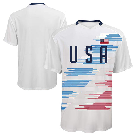 Team USA Outerstuff Soccer Officially Licensed Youth S/S Sublimation Jersey Tee