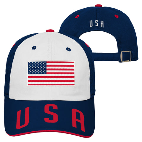 Men's USA Hat White and Blue America World Cup Cap Embroidered Football Soccer