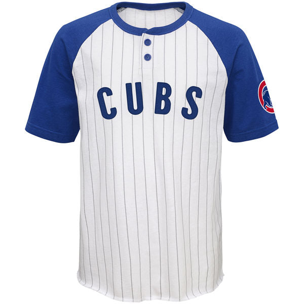 Chicago Cubs Youth White Royal Game Day Jersey T-Shirt