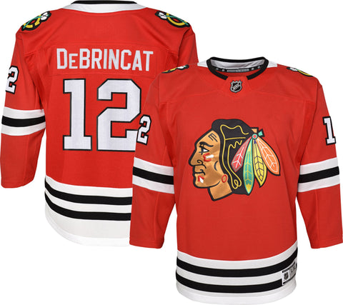 NHL Youth Chicago Blackhawks Alex DeBrincat #12 Premier Home Jersey 20/21