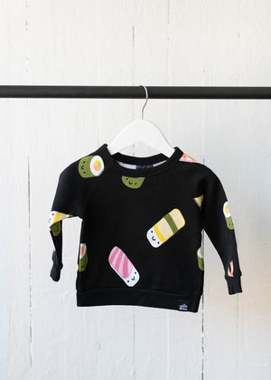 Kawaii Sushi Allover Print Sweatshirt