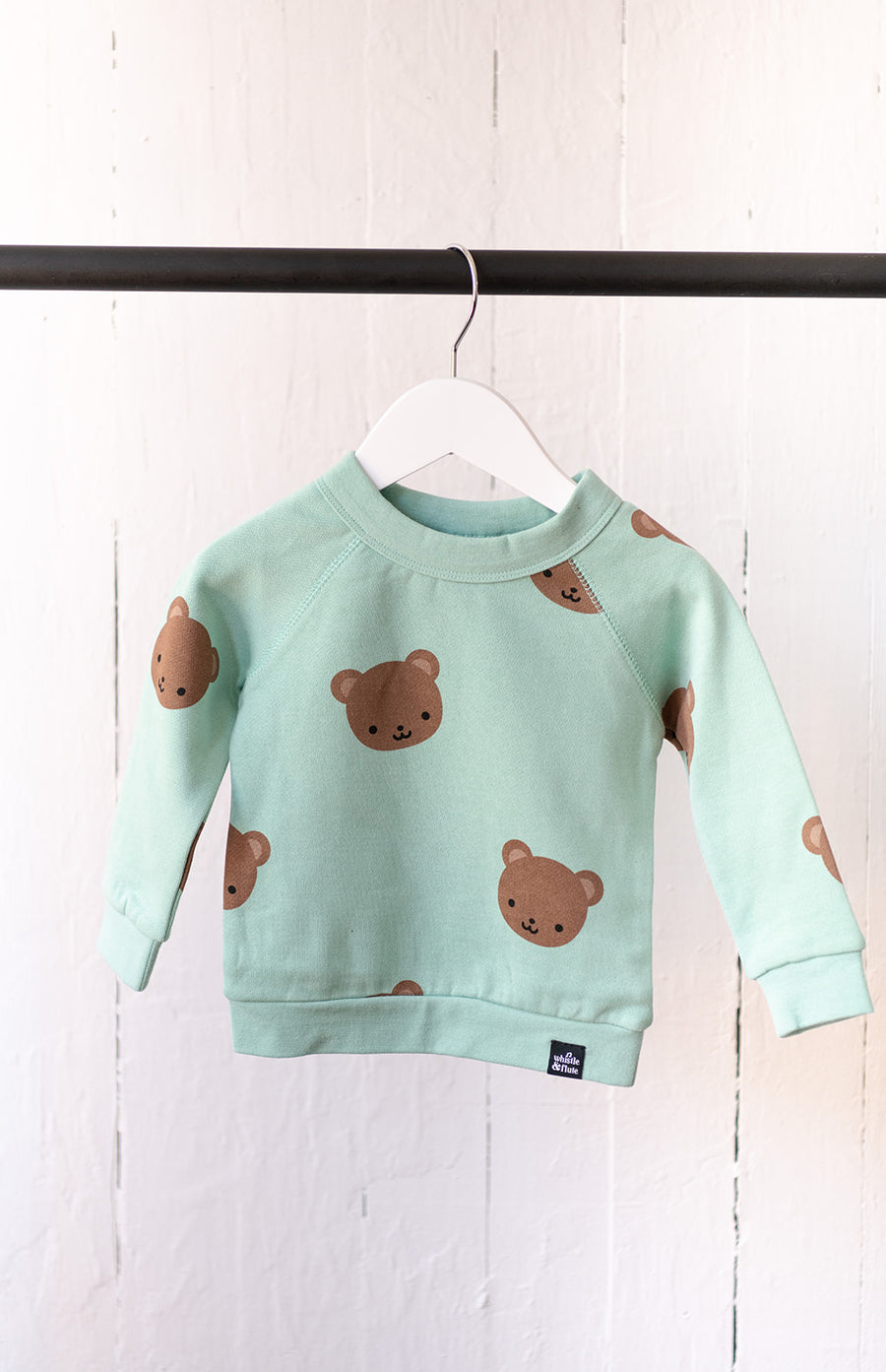 Bear Allover Print Sweatshirt