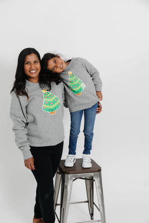 Kawaii Christmas Tree Sweatshirt Adult Unisex
