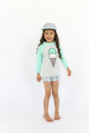 Kawaii Ice Cream Unisex Rashguard
