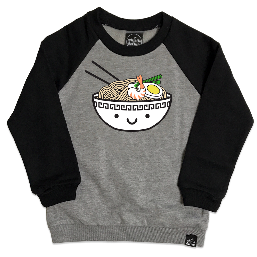 Kawaii Ramen Two-Tone Raglan Sweatshirt - Adult Unisex