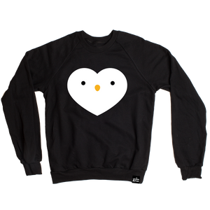 Kawaii Penguin Heart Sweatshirt Adult Unisex