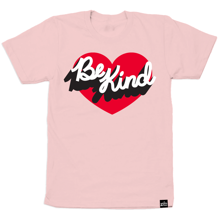 Be Kind Heart T-Shirt Adult Unisex - PINK SHIRT DAY