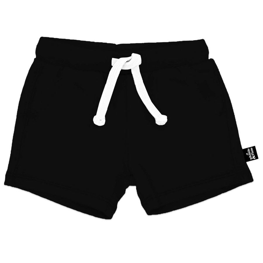 Bamboo Drawstring Shorts - Black