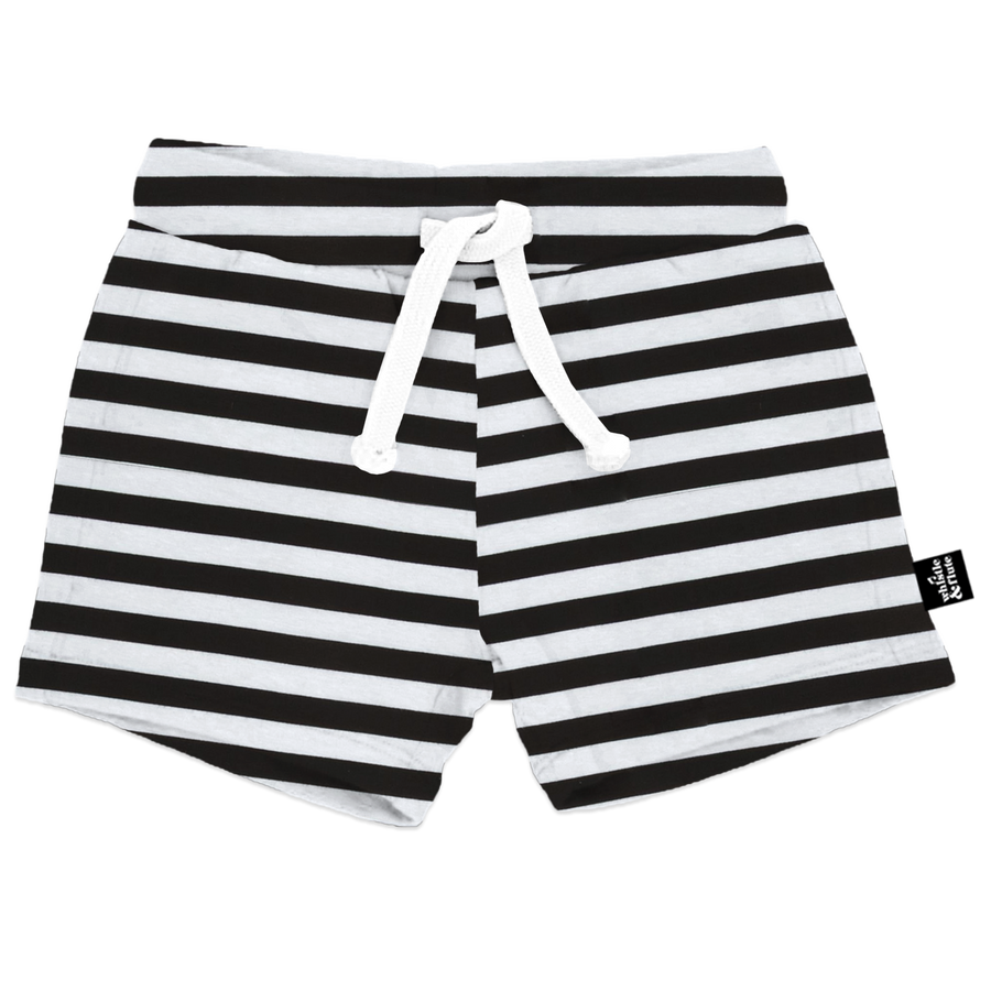 Bamboo Drawstring Shorts-Striped