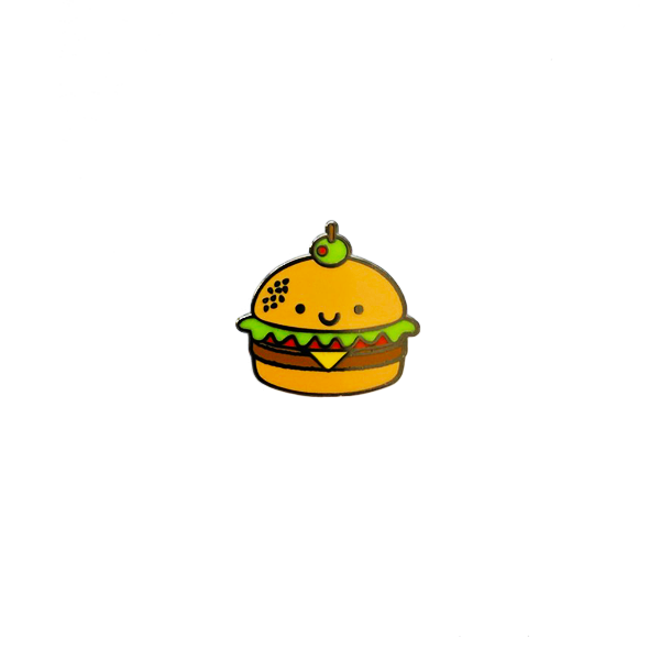 Kawaii Burger Enamel Pin