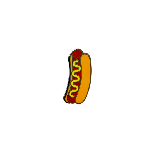 Kawaii Hot Dog Enamel Pin