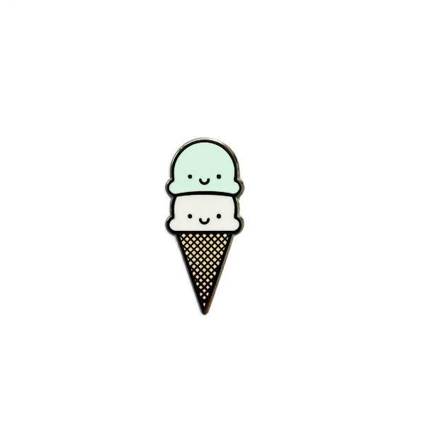 Kawaii Ice Cream Enamel Pin