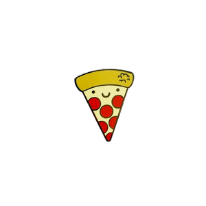 Kawaii Pizza Enamel Pin