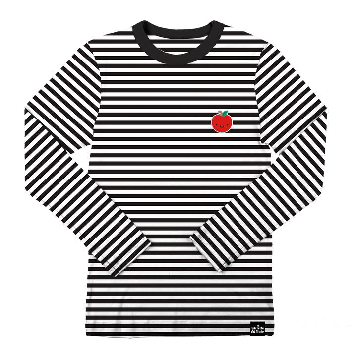 Kawaii Apple Striped Longsleeve T-Shirt