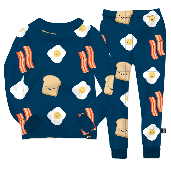 Kawaii Breakfast Pyjama Set (Navy)