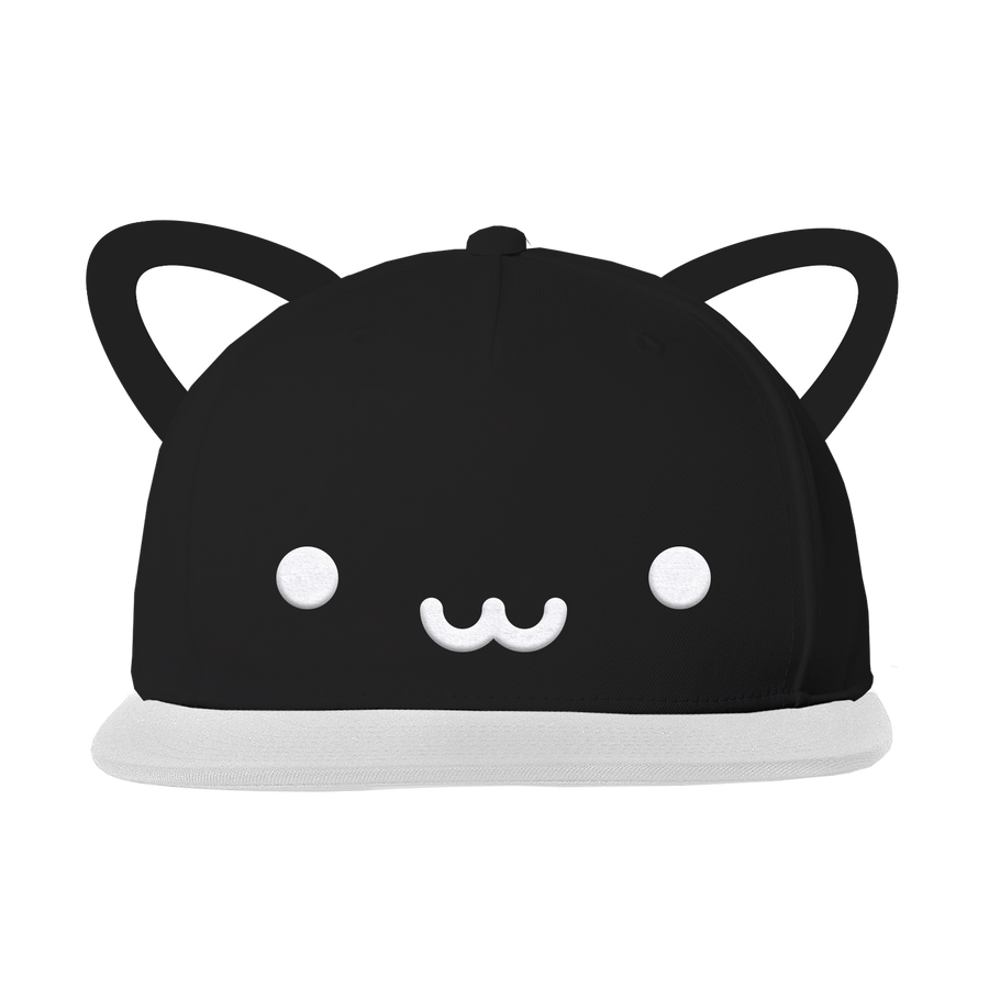 Kawaii Cat Flat Brim Cap With Ears