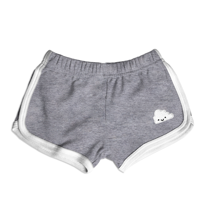 Kawaii Cloud Running Shorts - Athletic Grey