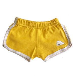 Kawaii Cloud Running Shorts - Gold