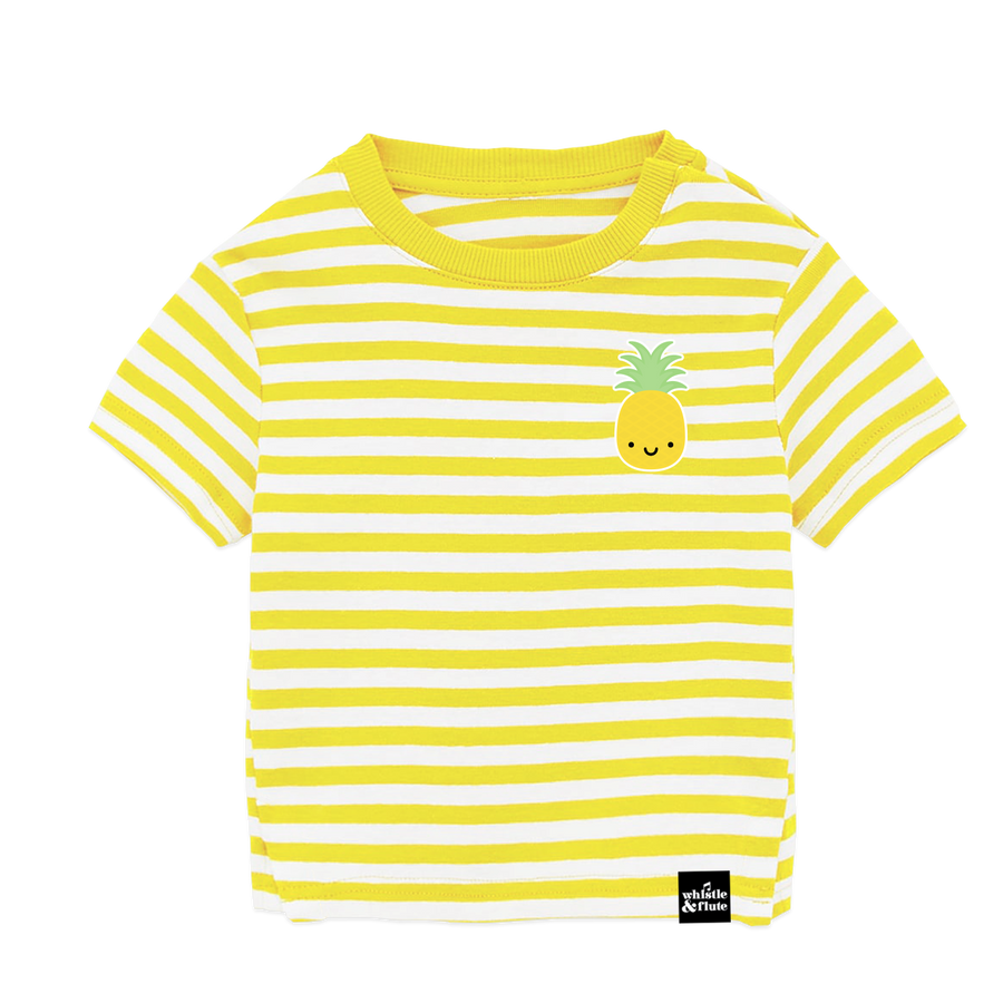 Kawaii Pineapple Striped T-Shirt