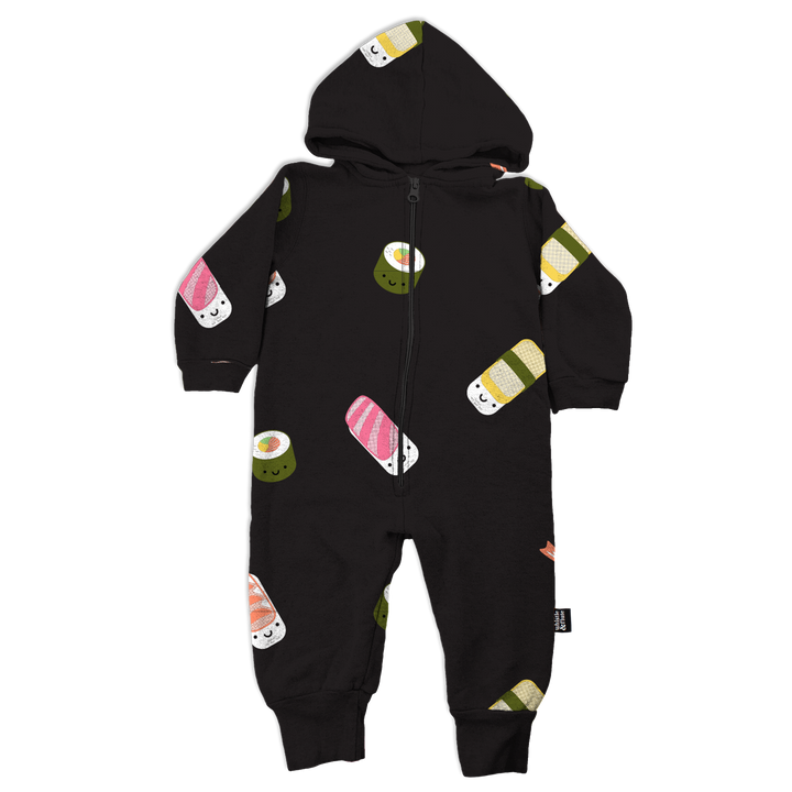 Kawaii Sushi Allover Hooded Romper