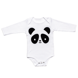 Kawaii Panda Bodysuit - Longsleeves
