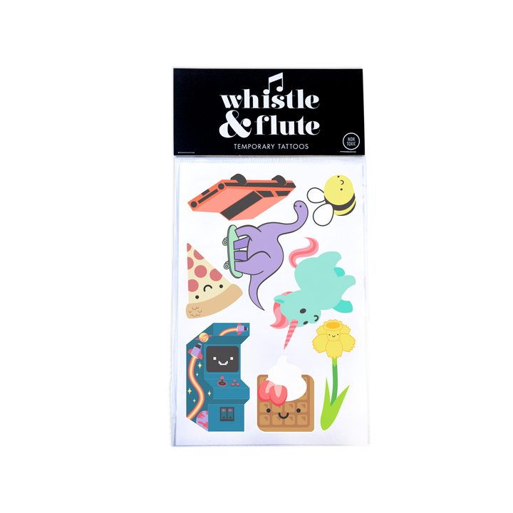 Whistle & Flute Temporary Tattoos - Spring 2021