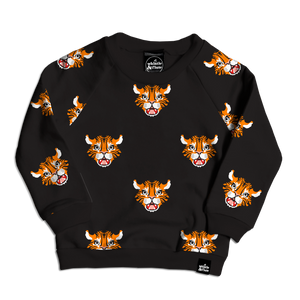 Tiger Allover Print Sweatshirt
