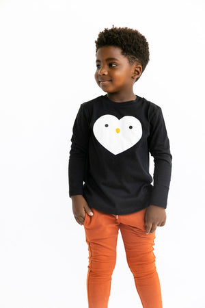Kawaii Penguin Heart Longsleeve T-Shirt