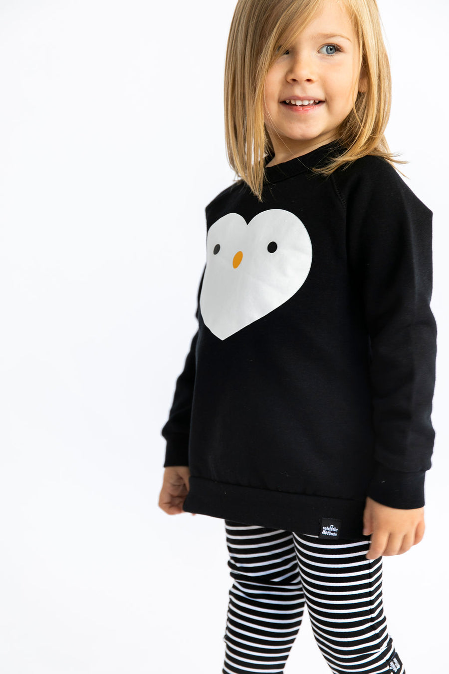 Kawaii Penguin Heart Sweatshirt