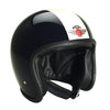 DAVIDA SPEEDSTER V3 HELMET – BLACK/ WHITE STRIPE