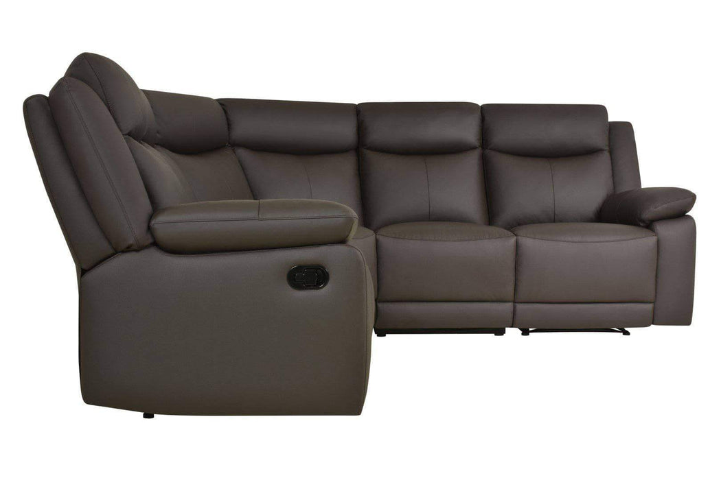 Volo Reclining Corner Sectional in Espresso Leather-Wholesale Furniture Brokers