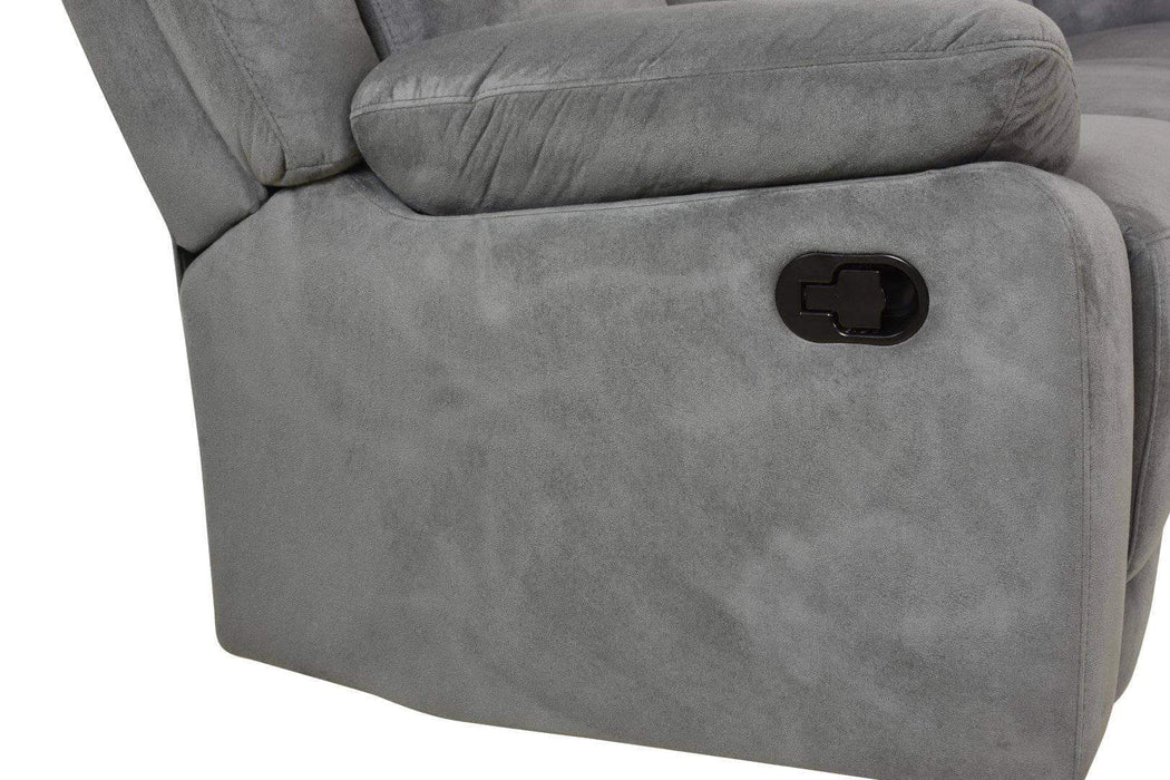 Volo Reclining Corner Sectional in Grey Fabric-Wholesale Furniture Brokers