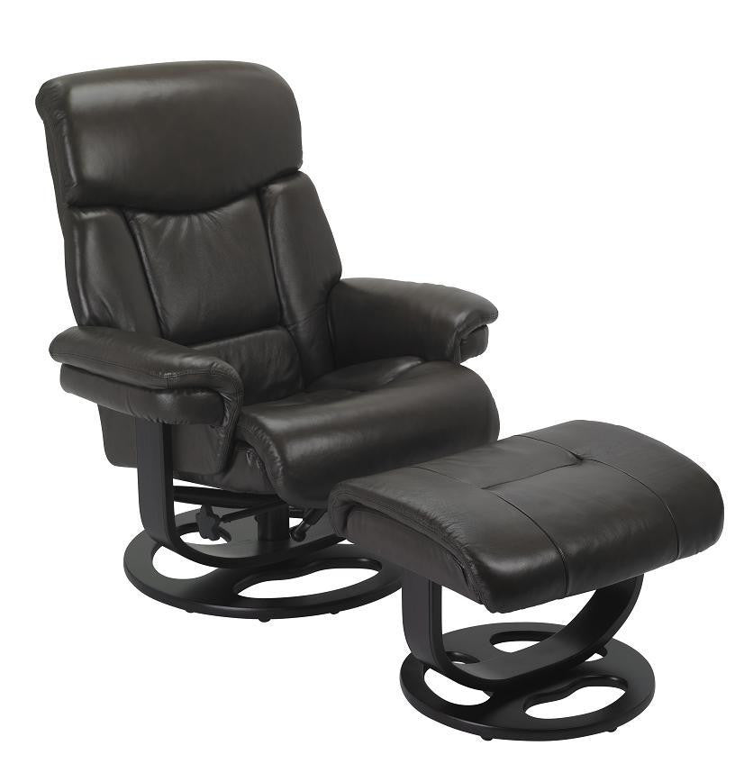 Canto R-590 Series Leather Recliner and Ottoman by Stanley Chair
