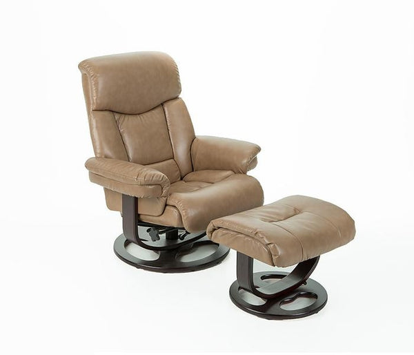 Canto R 590 Series Leather Recliner And Ottoman By Stanley