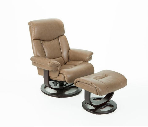 Sale Canto R 590 Series Leather Recliner And Ottoman By Stanley Chair