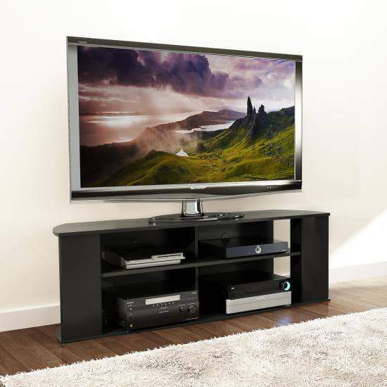 Essentials 60-inch TV Stand in Black-Wholesale Furniture Brokers