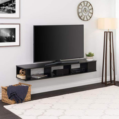 "70"" Wide Wall Mounted TV Stand"