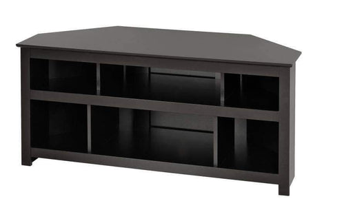 Black Vasari Corner Flat Panel Plasma / LCD TV Console-Wholesale Furniture Brokers