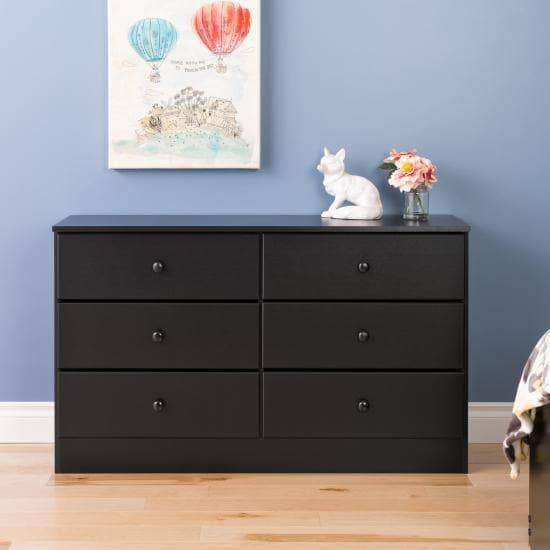Astrid-6-Drawer-Dresser-Black