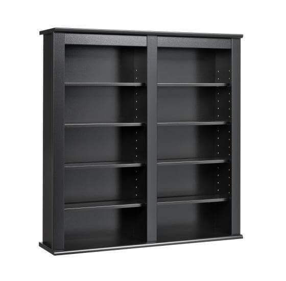 Black Double Wall Mounted Storage-Wholesale Furniture Brokers