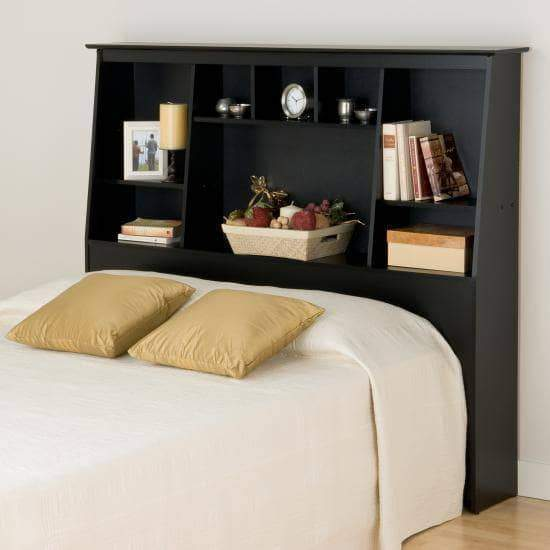 Full/Queen Tall Slant-Back Bookcase Headboard - Multiple Options Available-Wholesale Furniture Brokers